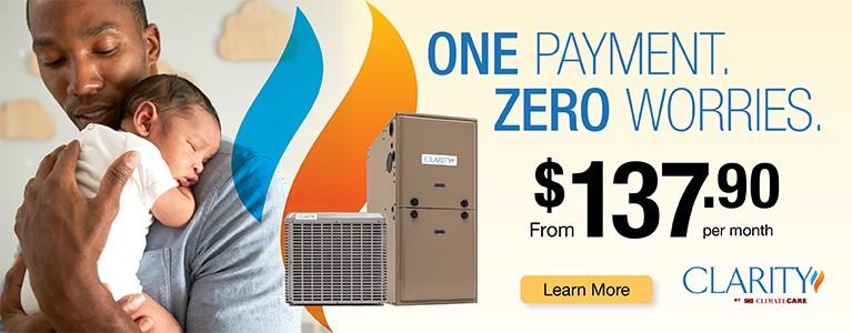 One Payment Zero Worries Banner